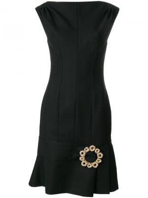 Приталенное платье с брошью Jacquemus. Цвет: чёрный