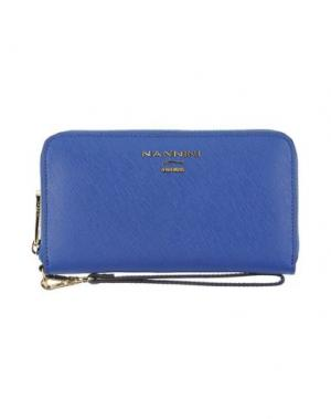 Бумажник NANNINI. Цвет: синий