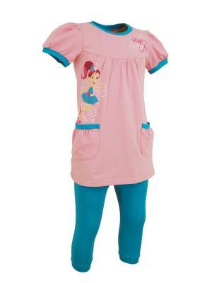 Комплект для девочек Милослава. Цвет: розовый, морская волна