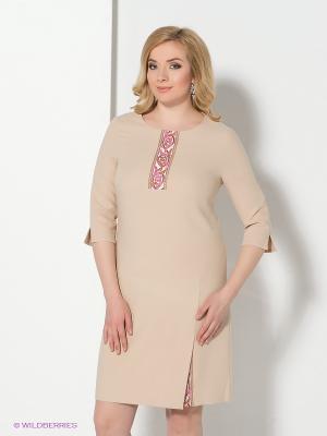Платье Spicery. Цвет: бежевый