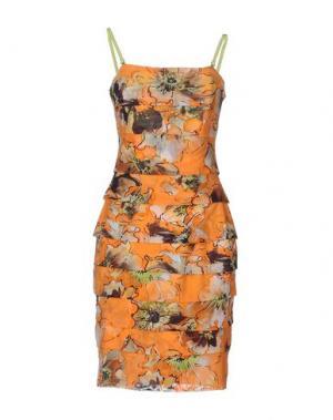 Короткое платье FISICO. Цвет: оранжевый