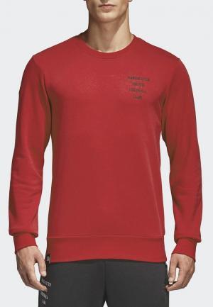Свитшот adidas. Цвет: красный
