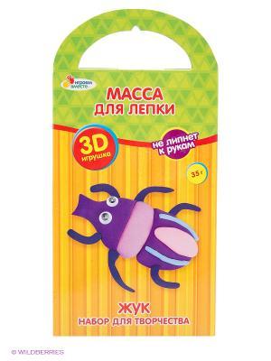 Масса для лепки  слепи игрушку жук, 40 г, инструкция Multiart. Цвет: зеленый, коричневый