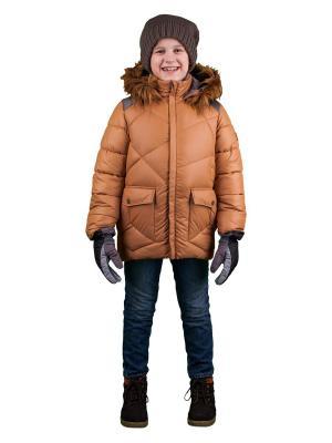 Куртка BOOM. Цвет: коричневый