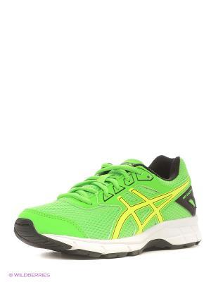 Кроссовки GEL-GALAXY 9 GS ASICS. Цвет: зеленый, желтый, черный