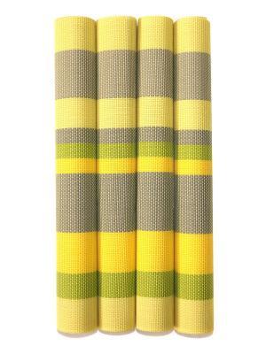Плейсматы, 4 шт DiMi. Цвет: желтый, зеленый