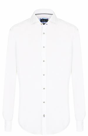 Хлопковая рубашка с воротником акула Jacques Britt. Цвет: белый