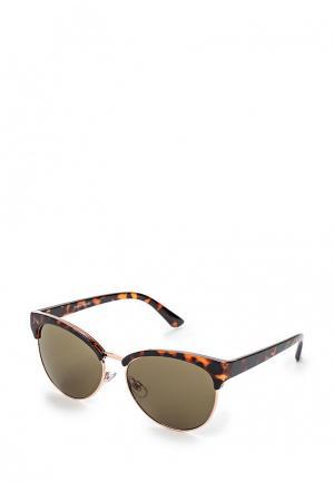 Очки солнцезащитные Warehouse. Цвет: коричневый