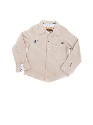 Детская рубашка Pilota. Цвет: бежевый
