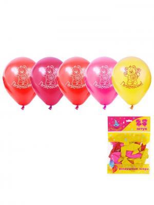 Набор воздушных шаров А М Дизайн. Цвет: красный, желтый, фуксия
