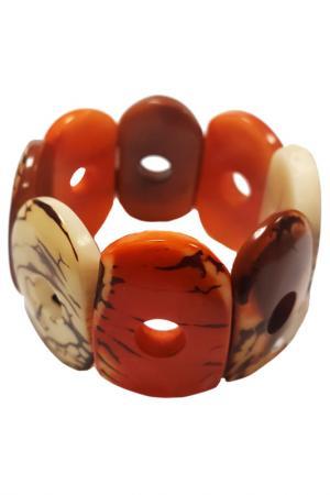 Браслет Tagua by Soraya Cedeno. Цвет: оранжевый, слоновая кость