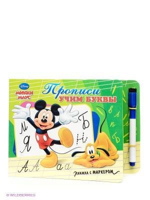 Disney. Книжка с маркером. Прописи  Учим буквы. Микки Маус Проф-Пресс. Цвет: зеленый