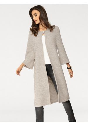 Трикотажное пальто Rick Cardona. Цвет: бежевый