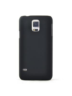 Чехол для Samsung Galaxy S5, прорезиненный Soft-Touch пластик, черный Belsis. Цвет: черный