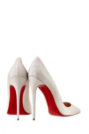 Туфли So Kate 120 Christian Louboutin. Цвет: слоновая кость, серебряный