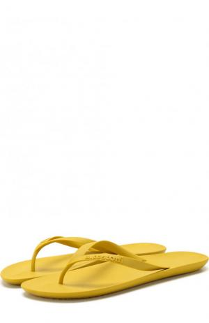 Резиновые шлепанцы A. Testoni. Цвет: желтый