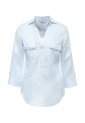 Блуза oodji. Цвет: голубой