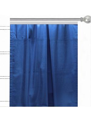 Однотонная штора Lapis blue Altali. Цвет: синий