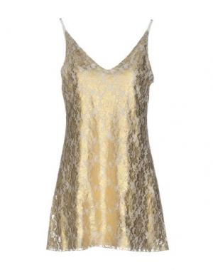 Короткое платье CARLA G.. Цвет: золотистый