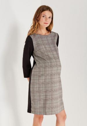 Платье 40 недель. Цвет: серый