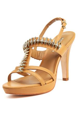 Босоножки на каблуках Barachini. Цвет: коричневый