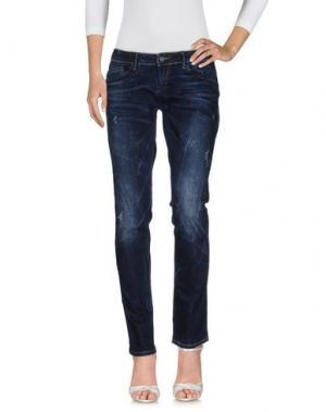 Джинсовые брюки TIMEOUT. Цвет: синий