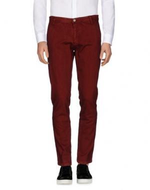 Повседневные брюки SSEINSE. Цвет: кирпично-красный