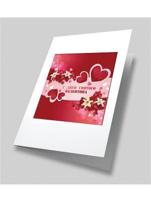 Набор для создания открытки Алое сердце Матренин Посад. Цвет: красный, белый, розовый