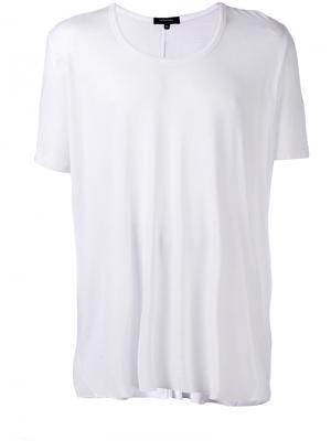 Свободная футболка с U-образным вырезом Unconditional. Цвет: белый
