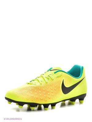 Бутсы MAGISTA OLA II FG Nike. Цвет: желтый