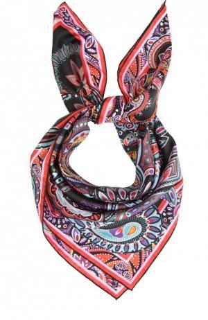Шелковый платок с принтом Leonard. Цвет: черный