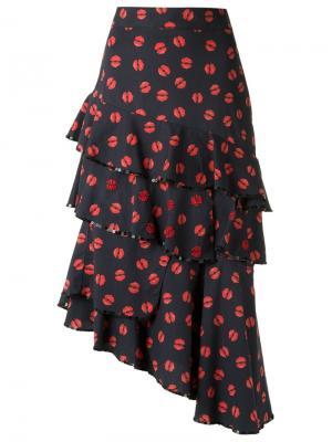 Ruffled skirt Isabela Capeto. Цвет: синий