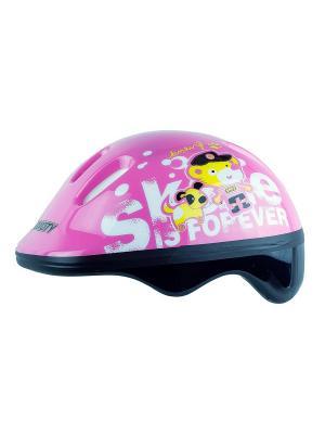 Роликовый шлем BABYTEDDY MAXCITY. Цвет: розовый