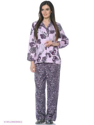 Пижама Del Fiore. Цвет: лиловый, темно-фиолетовый