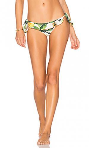 Плавки бикини с рюшами Lenny Niemeyer. Цвет: зеленый