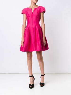 Расклешенное мини-платье Halston Heritage. Цвет: розовый и фиолетовый