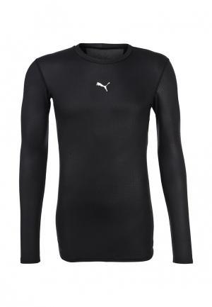 Лонгслив спортивный Puma. Цвет: черный