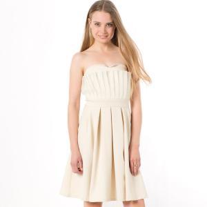 Платье-бюстье MOLLY BRACKEN. Цвет: экрю