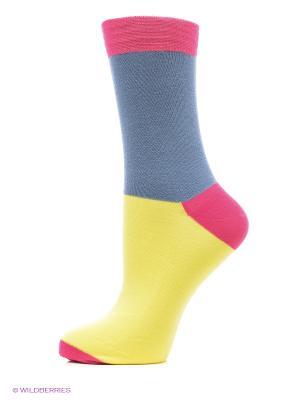 Носки DOCTOR E. Цвет: голубой, малиновый, желтый
