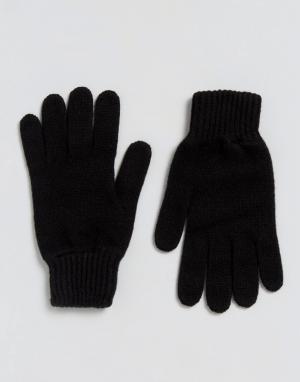 Glen Lossie Черные кашемировые перчатки. Цвет: черный