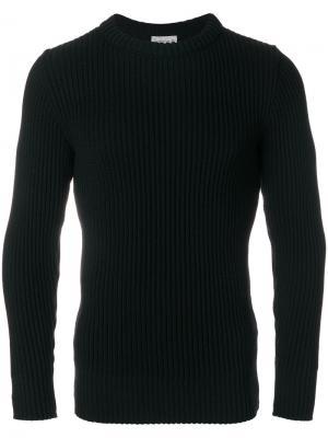 Классический трикотажный свитер S.N.S. Herning. Цвет: чёрный