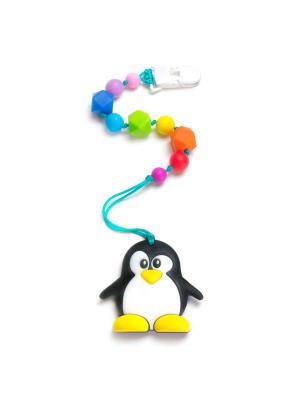 Пингвинёнок на клипсе-держателе iSюминка. Цвет: черный, зеленый, красный