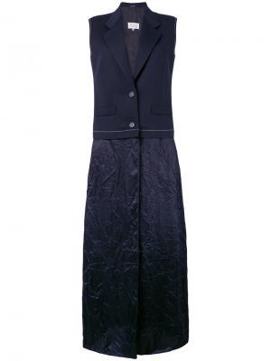Платье с лацканами-шалькой Maison Margiela. Цвет: синий