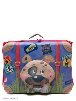 Чемодан Собачка Okiedog Wild Pack. Цвет: синий, красный