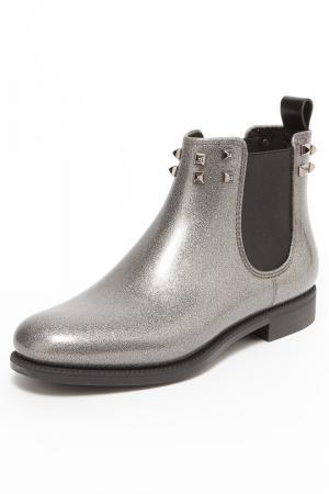 Ботинки MENGHI. Цвет: серебряный