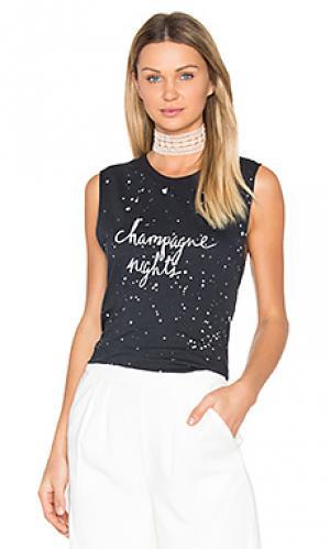Обрезанная майка champagne nights TYLER JACOBS. Цвет: черный