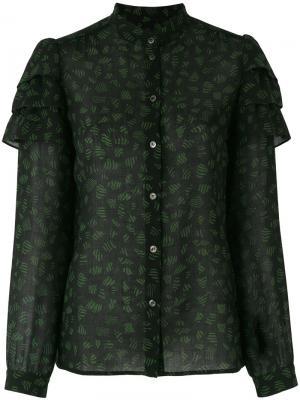 Блузка с вышивкой Vanessa Seward. Цвет: чёрный
