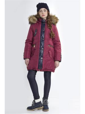 Куртка Sabotage. Цвет: бордовый