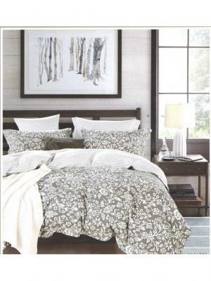Комплект постельного белья ROMEO AND JULIET. Цвет: темно-серый, белый
