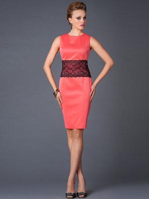 Платье Арт-Деко. Цвет: коралловый